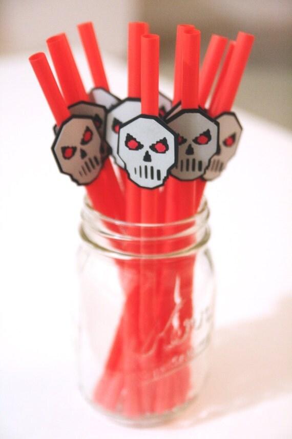 Terraria Skull Straws Halloween Party Terraria Birthday