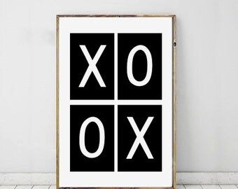 XOXO Typography Art Print Daily Motto, Daily Reminder, Wall Art, Digital Download, Instant Download, Printable Quote