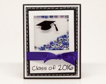 Sequin Shaker Custom Graduation Card