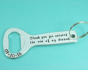 Personalised Wedding Beer Bottle Opener Key Ring | Keyring | Best Man/Father/Usher/Brother/Uncle Gift | Hand Stamped | Daddy/Dad/Grandad,