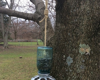 Hanging Mason jar Bird feeder
