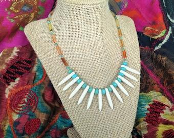 Turquoise Carnelian Necklace