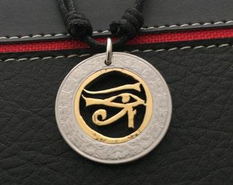 Horus eye, egiptian necklace all seeing eye of Ra