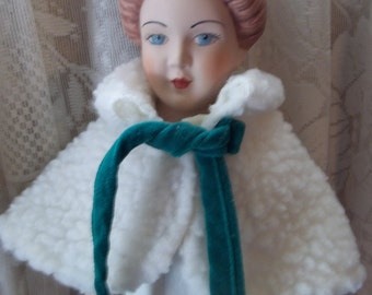 Reproduction Bisque Leather Parian Doll