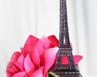 "6"" Black Paris Eiffel Tower Cake Topper, Madeline, France, Centerpiece, Parisina Decoration, overthetopcaketopper"