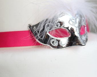 Miniature Masquerade Masks (Silver)
