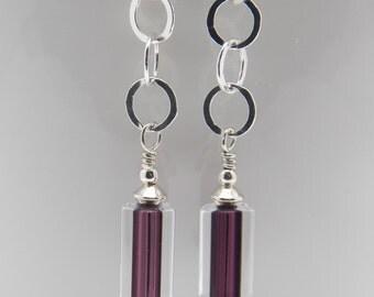 Sleek Furnace Glass Earrings