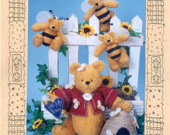 Homespun at Heart Designs Bee My Honey Soft Doll Pattern