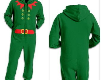 Elf Costume (Red Detail) premium adult onesie