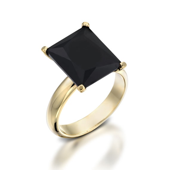 Black Statement Ring yx Engagement Ring Black Ring
