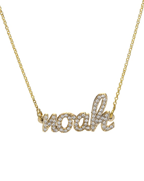 custom name necklace custom diamond necklace personalized. Black Bedroom Furniture Sets. Home Design Ideas