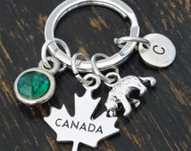 Canada Goose' Leather Keychain - Tooled Leather Canada Goose' Keychain
