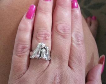 Vintage Kabana Sterling Silver Seal Ring