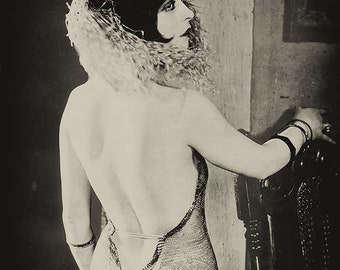 Ziegfeld Follies vintage photo antique photograph girl with mask 1920s flapper art deco-PRINT