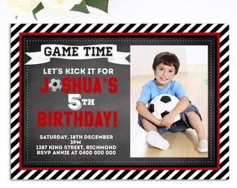 Boys Soccer Birthday Invitation - Soccer Birthday Invitation - Printable Invitation - Soccer themed Birthday - Boys Birthday Invitation