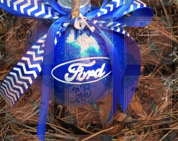 Ford Christmas Ornaments! Mustang, F-150 250 350, Turbo, Gifts, Blue Christmas, Glittered Ornaments, Man Tree, Muscle Cars, Ford Gifts