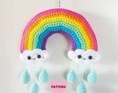 Rainbow Mobile PDF Pattern, crochet, amigurumi