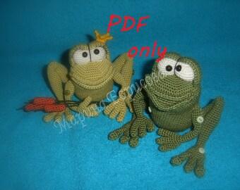 Frogs Crochet Pattern amigurumi PDF