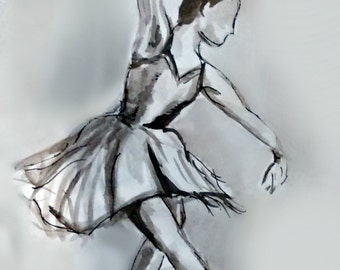 Watercolour Ballerina Print
