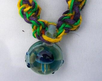 Frog Rainbow Hemp Necklace