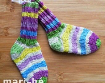Socks / stockings in washable wool 5 inches or 12.5 cm
