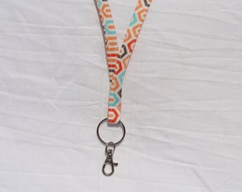Geometric Patterned Lanyard
