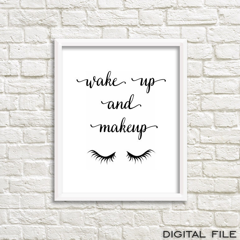 Wake Up To A Fresh Bedroom Style: Affiche Scandinave Cute Girly Prints Printables Lashes Print