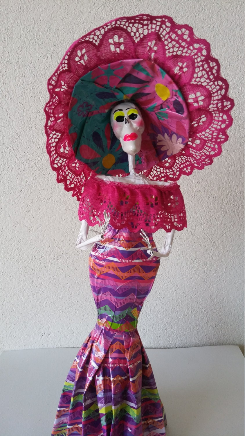 day of the dead catrina doll sugar skull decoration dia de