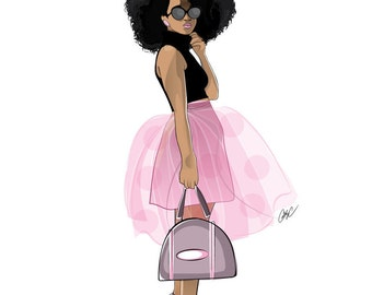 Afro Fashionista in a Tutu