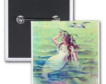 Mermaid Brooch Pin
