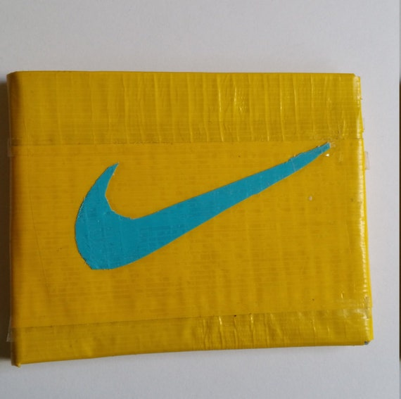 nike symbol bifold neon yellow and light by