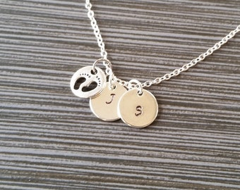 Silver Baby Feet Necklace - New Mom Necklace - Personalized Necklace - Custom Gift - Initial Necklace - Mother Gift - Newborn Necklace