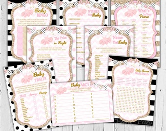 Tutu Baby Shower Games / Printable File / Baby Shower Games