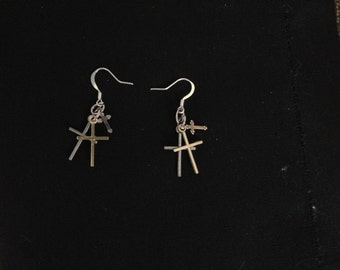 Triple Cross Dangle Earring