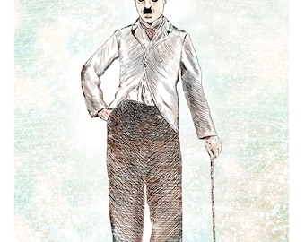 Charlie Chaplin Illustration (Print)