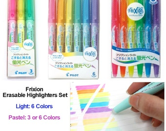 Frixion Light/Pastel Highlighters: 3 or 6 Colors