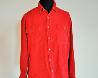 Mens velvet shirt etsy for Red velvet button up shirt