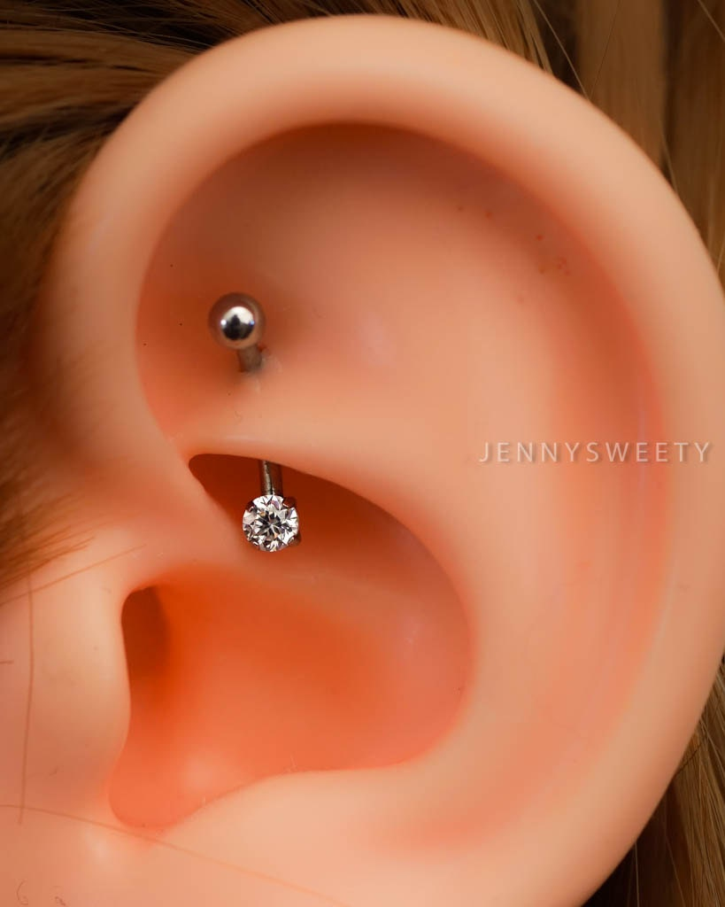how to change rook piercing bar