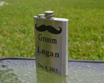 Groom Flask, Wedding Party Flask, Groomsman Gift, Wedding Gift, Groomsmen Gift, Best Man Gift, Personalized Flask