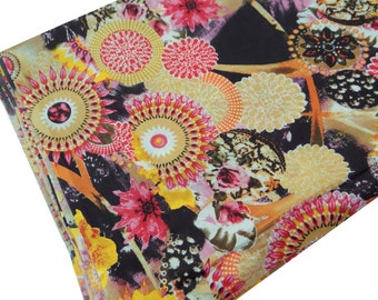 """Indian Multicolour Floral Printed Pure Cotton Fabric 43"""" Wide Beautiful Crafting Dress Making Craft Material Sewing Fabric By 1 Yard ZBC4916"""