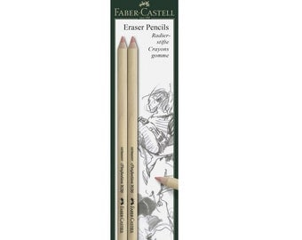 2 Eraser Pencils | Faber Castell, Precision Eraser Pencil, Set of 2, Faber-Castell