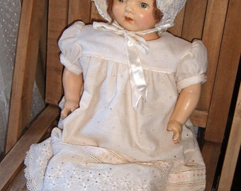 Vintage Composition and Cloth Doll 21 Inches SWEET