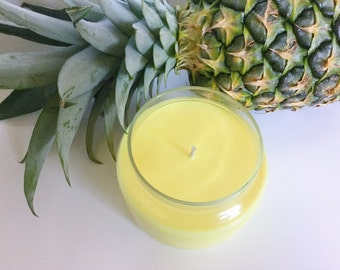 Jamaica Me Crazy! Candle/ 8oz Natural Soy Wax/ refillable/ zero waste/ fruity and tropical/ summer candle