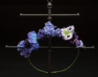 SU Amethyst Inspired Flower Crown - OOAK