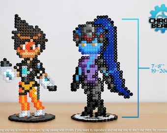 Overwatch - Tracer - Widowmaker - stand figure - ORIGINAL DESIGN - hama beads - perler beads
