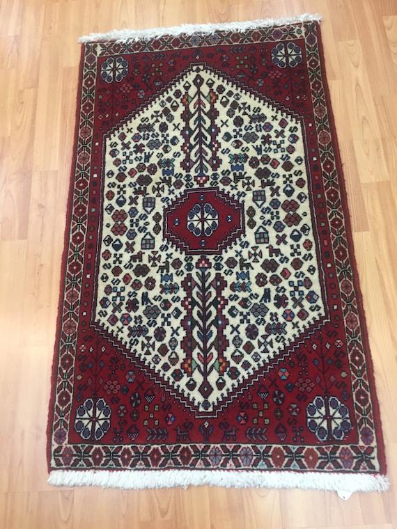 "2' x 3'4"" Persian Abadeh Shiraz Oriental Rug - Hand Made - 100% Wool"
