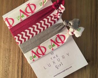 Alpha Phi Sorority Hair Elastics; APhi Hair Ties; Alpha Phi Bid Day; APhi Big Little; Alpha Phi Gift; Alpha Phi Accessories