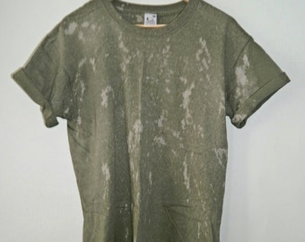Tie Dye T-Shirt  acid wash T-shirt hipster festival grunge Retro 90s punk dip dye unisex rave skate trash Galaxy men women top