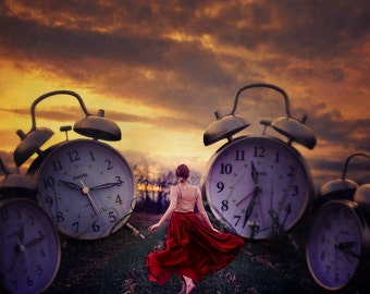 Lost Time - Clocks - Wall Art - Conceptual Print - Photography