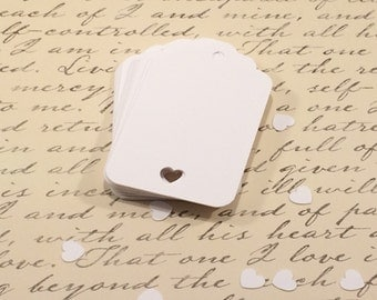 25 White Paper Tags, Scalloped Gift Tag, Heart Tag, Wedding Favor Tag, Wedding Decor, Party Favor, Hang Tag, Wedding Shower, Bridal Shower